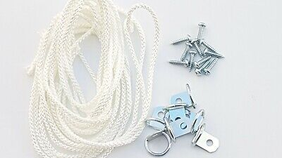 Picture Frame D Ring + Screws With Cord Nickel Canvas Hook Hanger 10 or 20 sets 9
