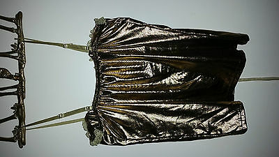 Womens Sexy Gold Lace Up Night/Dance Top With Padded Cups! 5