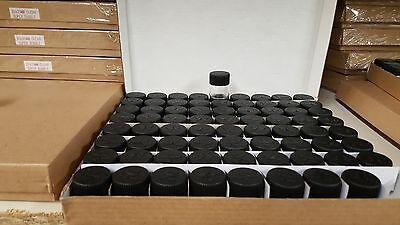 "24X Tiny Small TRAVEL Storage Clear Bottles Glass Mini Jars 1/"" Vials 23x25 WHITE"