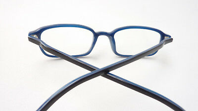 00fe72b2c8706 3 von 5 Gestell Brille Fassung Damen Herren schwarz blau Kunststoff frame  eckig Gr S