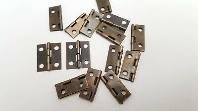 Small Hinges With Screws Bronze Jewellery Box Dolls House 2, 8, 14, 22 or 98 7