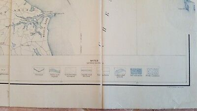 LARGE MARYLAND MAP - BALTIMORE COUNTY Topography & Election Districts - 1925 8