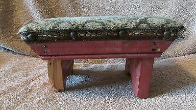 Vintage Padded Small Stool - June 1941  (10 T) 3