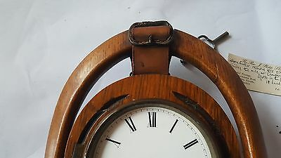 Late19th Century Japy Freres Horseshoe Clock and Key A/F 11