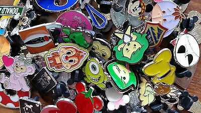 Disney Pin Trading 50 Assorted Pin Lot -  No Doubles – Tradable 5