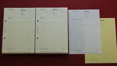 Auftragsformular,Auftrag Auftragsblock A4,2x50 Blatt,selbstdurchschreibend NEU