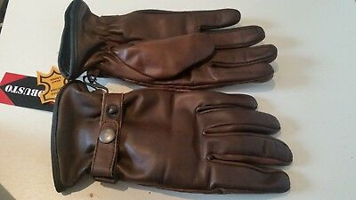 Brown all sizes S,M,L Waterproof Winter sheep leather gloves Black