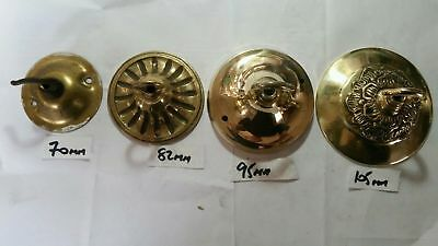 LARGER 100mm CEILING ROSE chandelier hook FRENCH cast brass ANTIQUE old c1920 F2 7