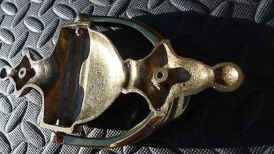 """Vintage Brass Door Knocker 7 3/4 """" Tall 7"""