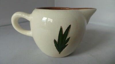 "STANGL THISTLE small Cream Pitcher 3"" tall Mid-Century Pink Green pottery PRETTY 3"