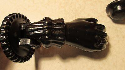 Old Cast Iron Hand & Ball Doorknocker 2
