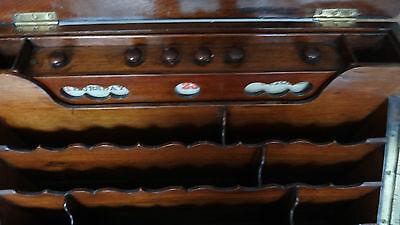 Antique 19Th Century Burr Walnut Stationery Box - Stylish & Original For A Loved 7
