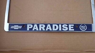 Temecula California Paradise Chevrolet And Cadillac Metal License Plate Frame