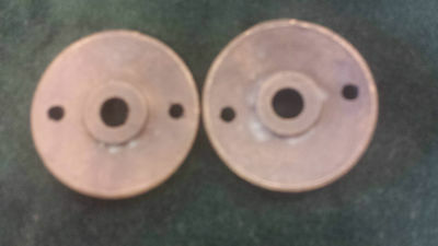 Pair Antique Brass Door Knob Backplates Escutcheons Floral pattern (#2) 2