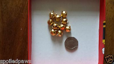 10 x Silver Gold Red Blue Purple Yellow Green Pink Cat Bells/ Jingle Bells BNIB 3