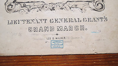 LIEUTENANT GENERAL GRANTS GRAND MARCH 1862 CIVIL WAR SHEET