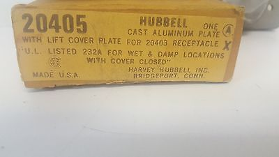 New Old Stock! Hubbell Aluminum Cover Plate 20405 2