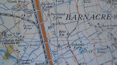 """Ordnance Survey Map 2.5"""" map SD54 Bleasdale 1968 Claughton Scorton Lancs. Canal 3"""
