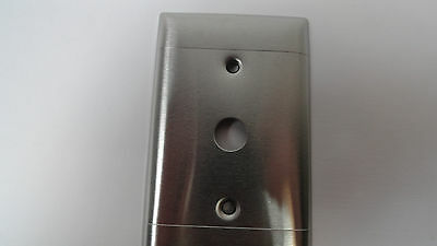 Vintage Rare Retro Stainless Steel Sierra 2 Lines Switch Plate Cover Steampunk