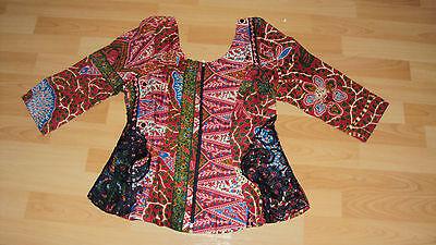 Ankara African Print Burgundy & Green Multi Skirt & Fitted Top UK 10-12 6