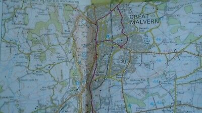 Ordnance Survey Map 1:50,000 150 Worcester Malvern 1984 Inc. Tewkesbury Broadway 4