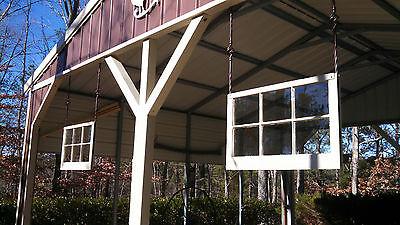Architectural Salvage - ANTIQUE WINDOW SASH - C. 1900s - 28x25 6 PANE WAVY GLASS 6