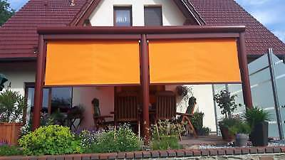 Terrassendach Alu VSG mit Markise Terrassenüberdachung 9 m breit Glas Carport