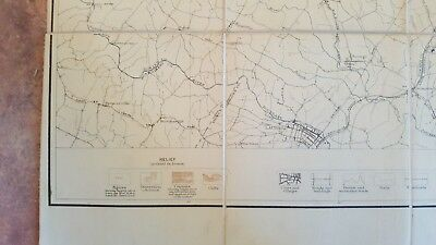 LARGE MARYLAND MAP - BALTIMORE COUNTY Topography & Election Districts - 1925 5
