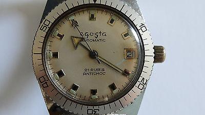 Alte EGOSTA Armbanduhr Taucheruhr Automatic Herrenuhr Uhr Uhren