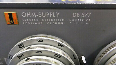 ESI DB877 Resistance Decade Box 0.1Ohm-12MOhm total AS-IS Read Free Shipping 3