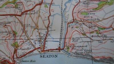 "Ordnance Survey map 1"" Lyme Regis Sidmouth 1932 Bridport Axminster Ottery Beer 5"