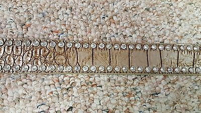 Dallas Cowboys  Beige Leather Belt Rhinestone Fancy Style Glitz Bling S M L NFL 4