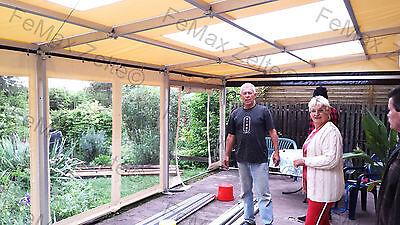 Festzelt Partyzelt Pultdach Anbau 3m x 9m 12x