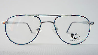 Kuhlmey Kana blaue Kinderbrille Metallfassung Federbügel Pilotenbrille lunettes 2