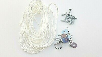 Picture Frame D Ring + Screws With Cord Nickel Canvas Hook Hanger 10 or 20 sets 2