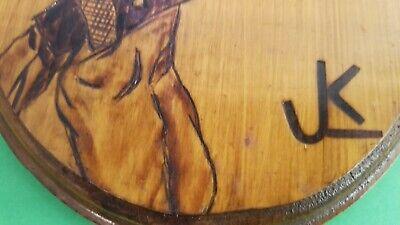 Vintage Hand Burned Wood  Hobo Man Figurine  Folk Art 4
