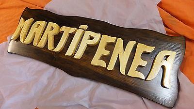 LETRERO de madera personalizado, ROTULACIÓN artesanal
