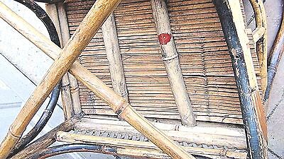 ANTIQUE 19c CHINESE BAMBOO RATTAN CHILD ARM CHAIR 12