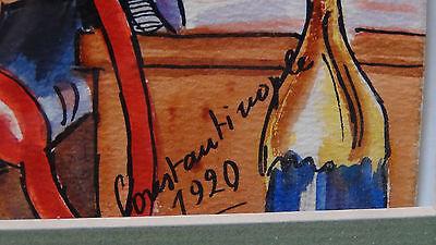 "Rare1920 Constantinople Street Scene""yok! Oxl!"" Original Watercolor Painting 7"