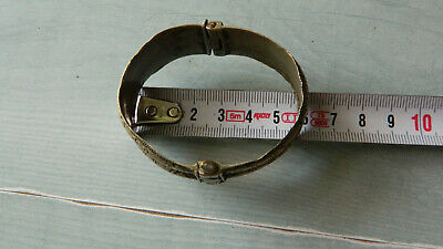 Antique Scarce 18th Century Silver Bridal Bracelet 4