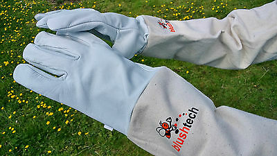 Beekeeper Beekeeping Bee gloves 100% Leather & Cotton Zean gloves Pair UK Seller 7