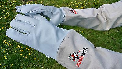Beekeeper Beekeeping Bee gloves 100% Leather & Cotton Zean gloves Pair UK Seller 7