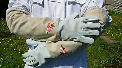Beekeeper Beekeeping Bee gloves 100% Leather & Cotton Zean gloves Pair UK Seller 9