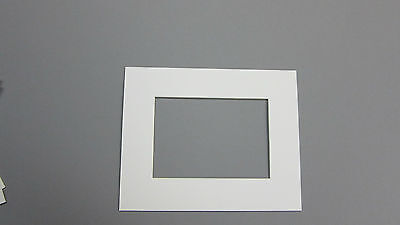Picture Framing Mat 8x10 For 5x7 Photo Set Of 10 Mats White Color