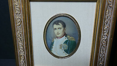 PAIR 19th C. PAINTINGS ON PORCELAIN NAPOLEON & JOSEPHINE PORTRAITS, SIGNED 2