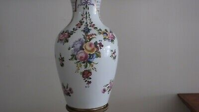 "18th Century 22"" Sevres Urn w/ Musical and Floral Motif. Sevres Mark, Initialed 7"