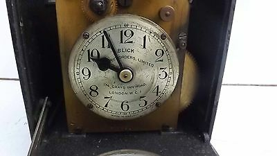 Clocking in clock small & rare with verge escapement movement 4