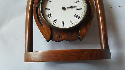 Late19th Century Japy Freres Horseshoe Clock and Key A/F 12