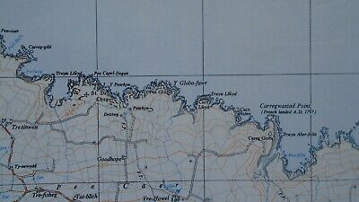 "Ordnance Survey Map 2.5"" map SM93 Fishguard 1969 Goodwick Tre-cwm Manorowen 3"