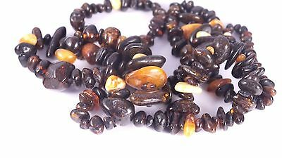 INTERESTING 100% gaureenteed Nat'l Baltic Amber Bead Court-Prayer Necklace 87gr
